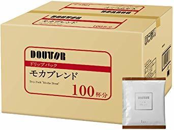 【☆特価品☆】 : ドトールコーヒー ドリップパック モカブレンド 100P_画像1