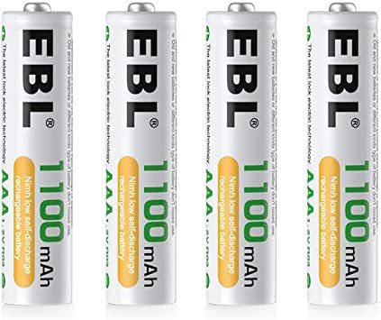【☆特価品☆】 : 単4電池1100mAh 4本パック EBL 単4形充電池 充電式ニッケル水素電池 高容量1100mAh 4_画像1
