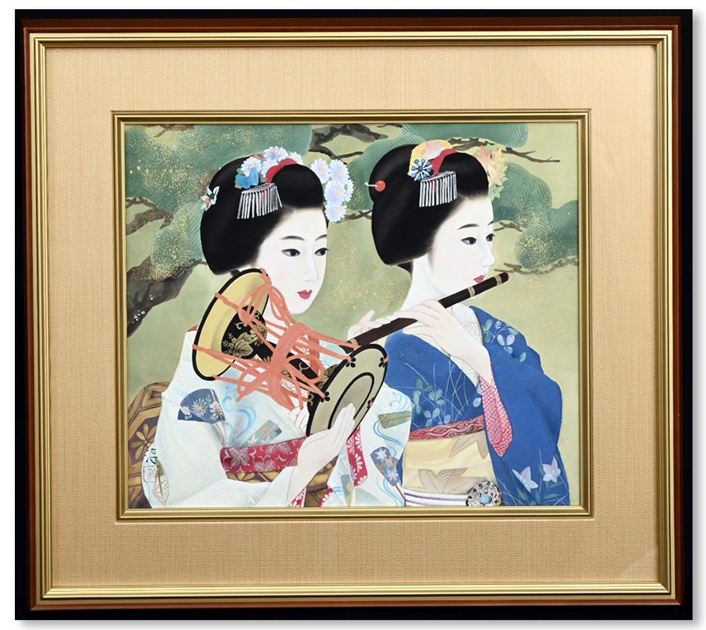 巨匠 中尾淳 「一調一管」 落款 印章 肉筆 日本画10号 共シール タトウ箱 真作保証 超美品