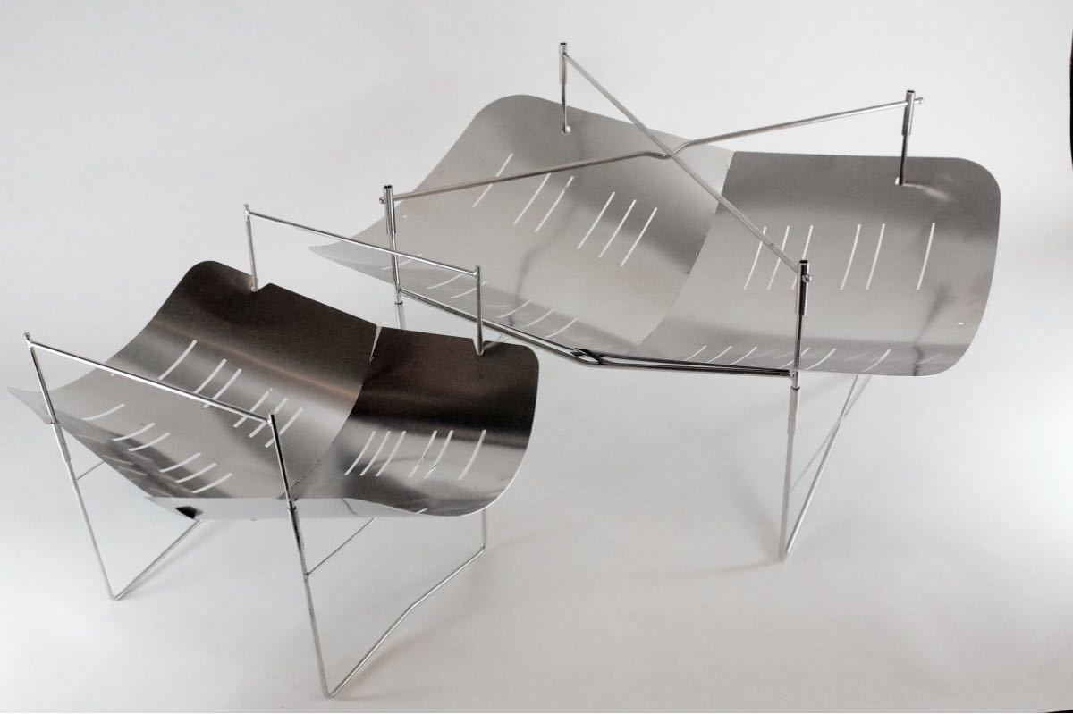 焚き火台  大型 焚き火760風 軽量 折り畳み式 ステンレス製