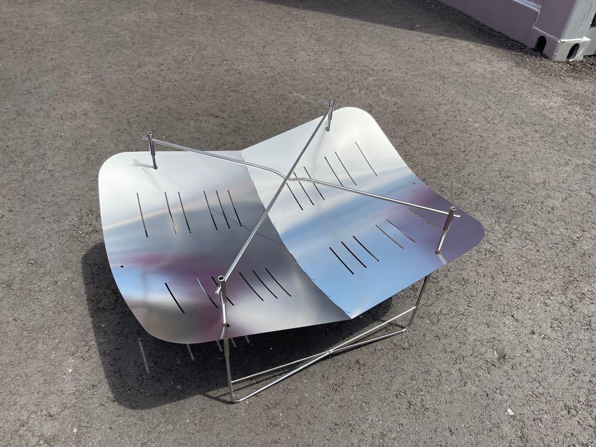 焚き火台  大型 焚き火760風 軽量 折り畳み式 ステンレス製!