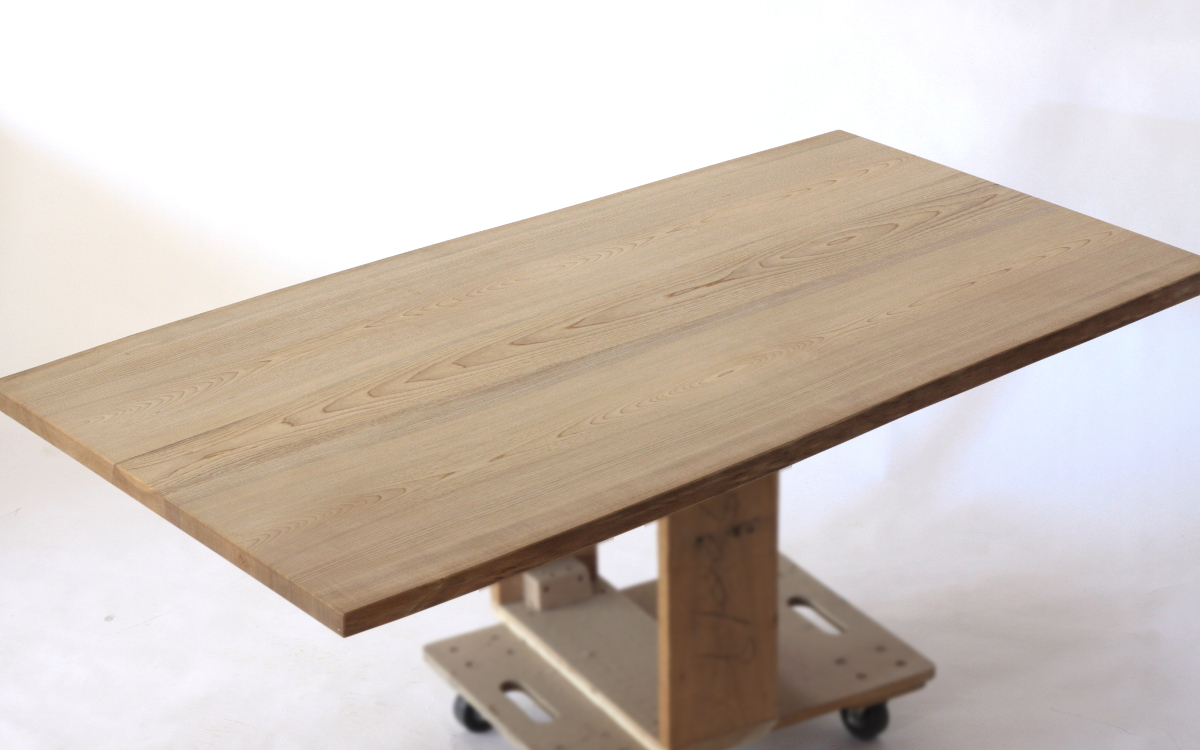 150×約80cmの国産無垢材テーブル(植物系オイル仕上)【岩泉純木家具公式ストア】_画像5
