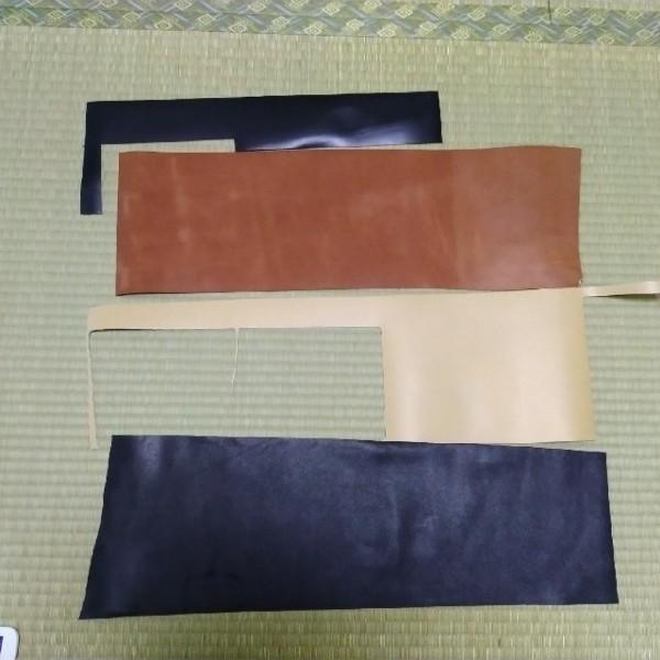革 レザークラフト 黒 茶 ベージュ ハギレ
