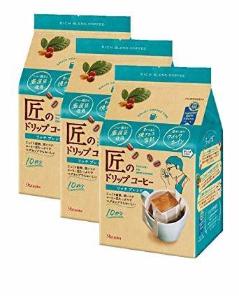 10袋 ×3袋 片岡物産 匠のドリップコーヒー リッチブレンド 10袋 ×3袋 レギュラー(ドリップ)_画像1