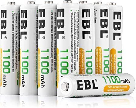 単4形電池 8個パック EBL 単4形充電池 充電式 ニッケル水素充電池 8本入り 高容量1100mAhで長持ち 約1200回使_画像2