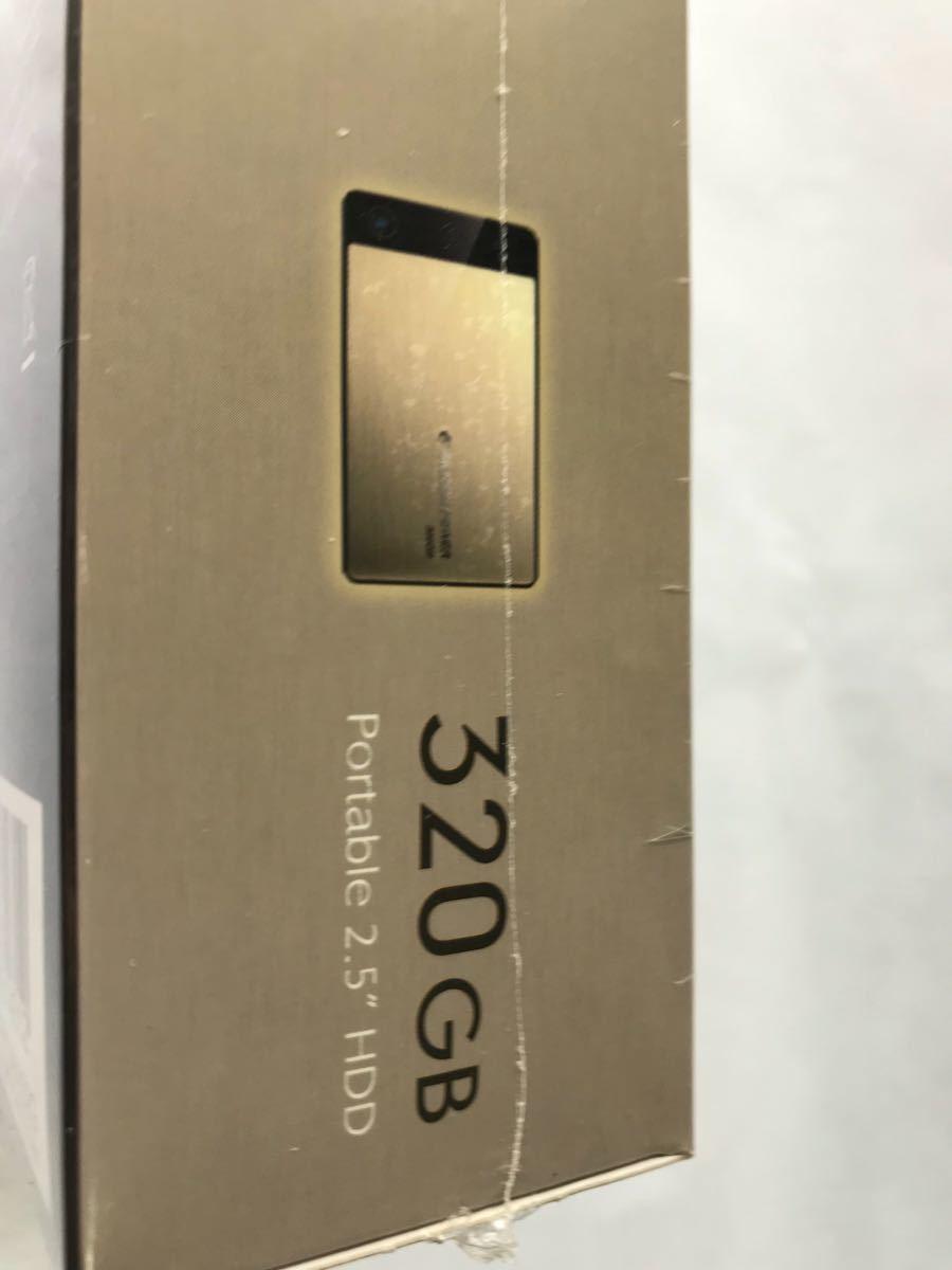 【未開封品】シリコンパワー・ポータブルHDD Armor A50 ゴールド320GB/2台セット