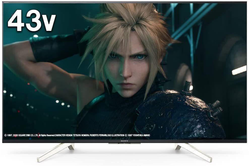 ソニー 43V型 液晶テレビ 4Kチューナー内蔵 Android TV機能 Works with Alexa KJ-43X8500G ネット配信アプリほぼ対応 2020/10~保証有_画像1