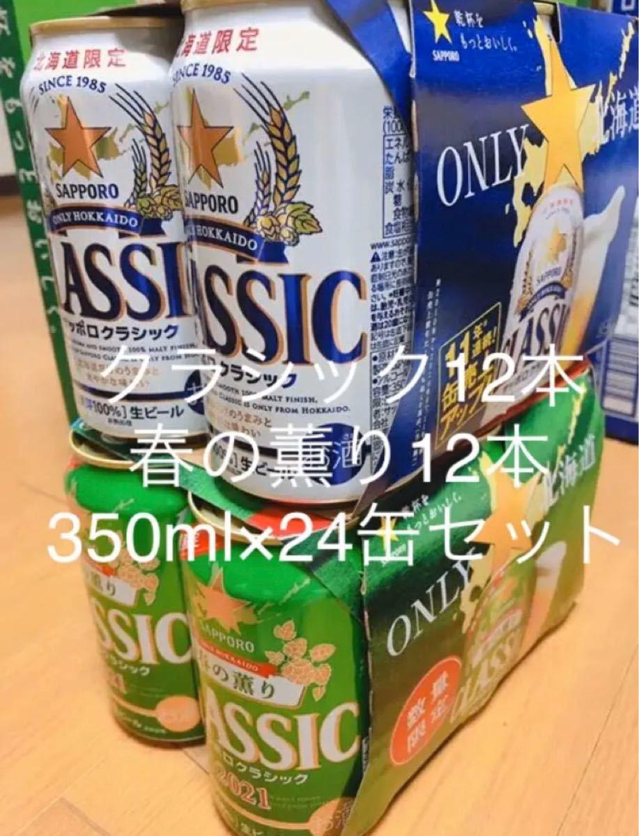 北海道限定サッポロクラシック&春の薫り350ml×24缶セット