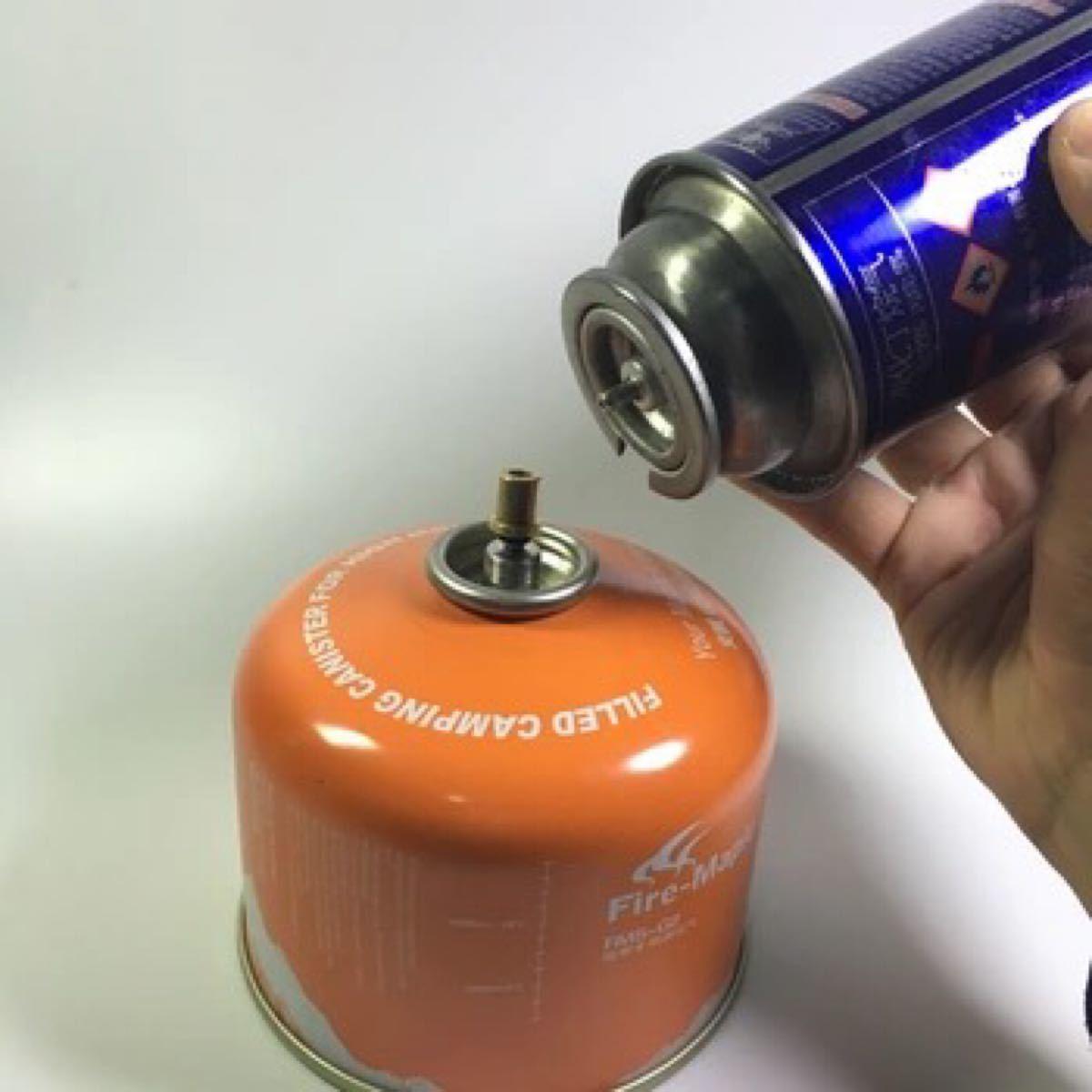 ガス缶 詰め替え アダプター(詰替マニュアル付き)