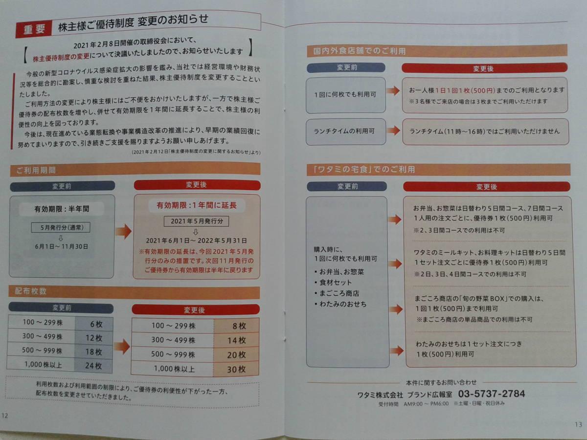 【送料無料】 ワタミグループ株主優待券 15000円分_画像3