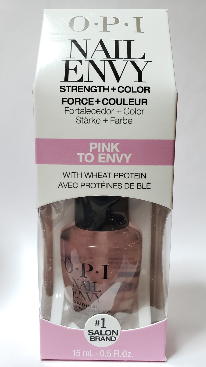 OPI NAIL ENVY ピンク トゥ エンビ 新品 箱付 15ml アメリカ製 Pink To Envy