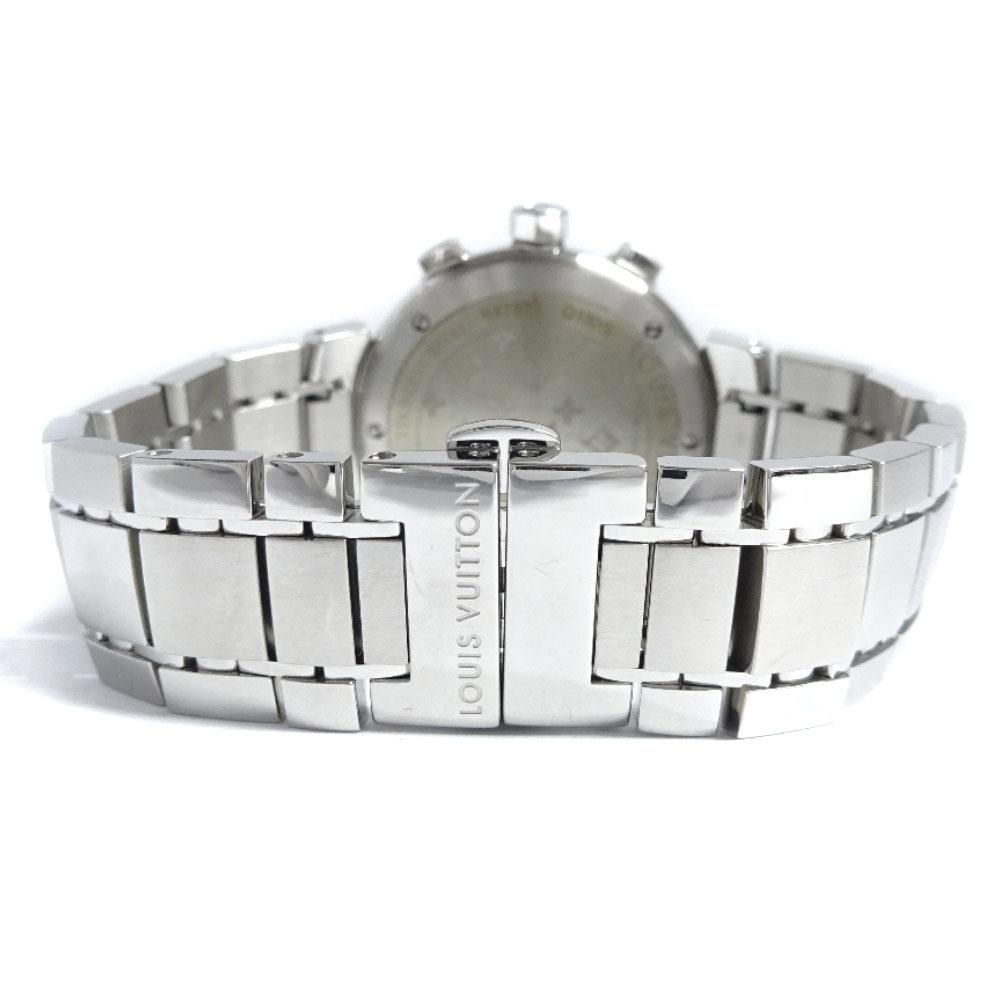 即決 ルイ ヴィトン タンブール ラブリーカップMM ボーイズ 腕時計 レディース クオーツ ブラック文字盤 シルバー Q132G_画像9