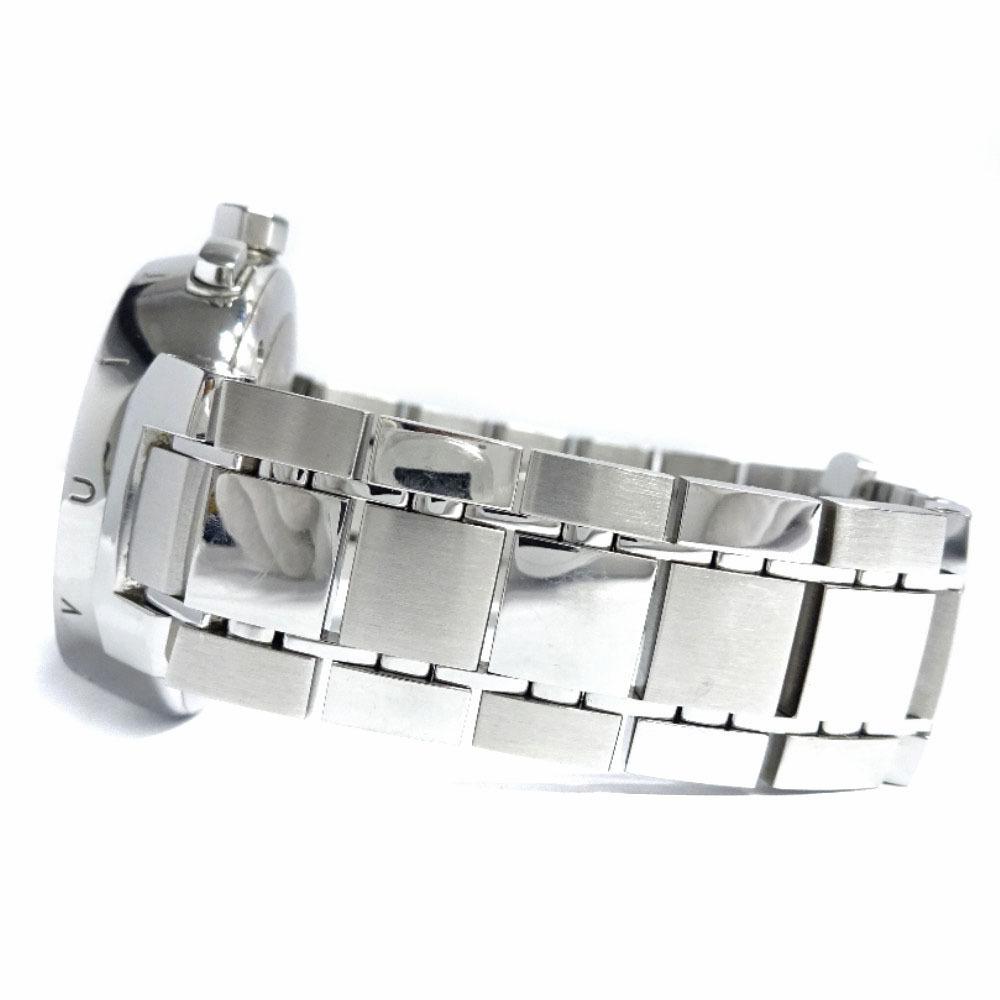 即決 ルイ ヴィトン タンブール ラブリーカップMM ボーイズ 腕時計 レディース クオーツ ブラック文字盤 シルバー Q132G_画像8