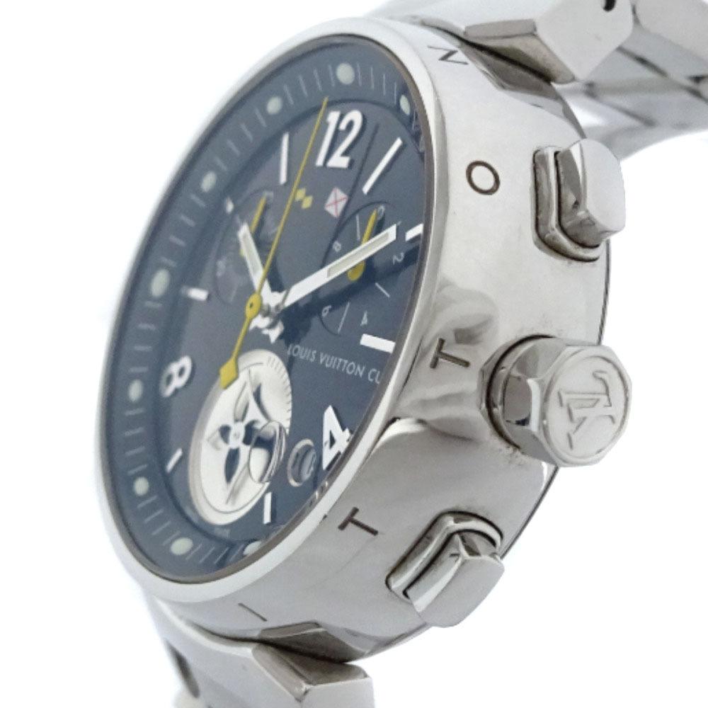 即決 ルイ ヴィトン タンブール ラブリーカップMM ボーイズ 腕時計 レディース クオーツ ブラック文字盤 シルバー Q132G_画像3