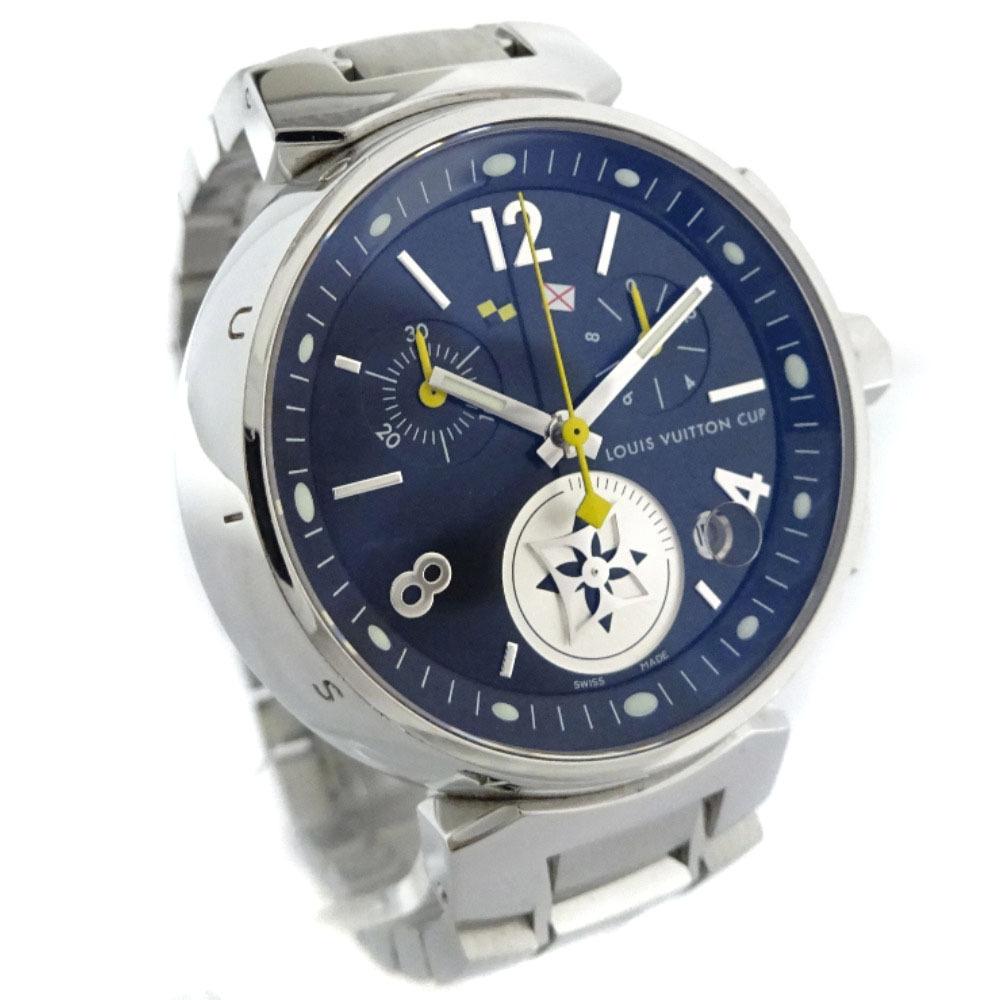 即決 ルイ ヴィトン タンブール ラブリーカップMM ボーイズ 腕時計 レディース クオーツ ブラック文字盤 シルバー Q132G_画像2