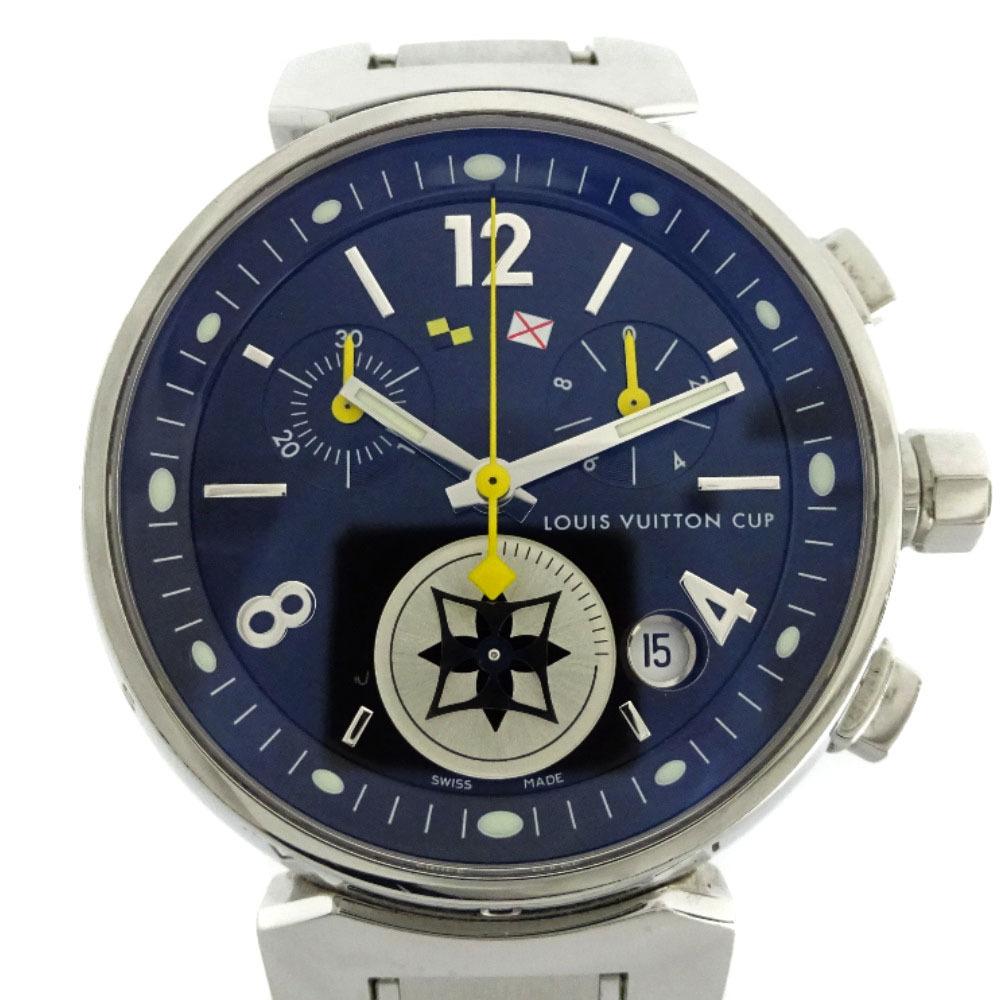 即決 ルイ ヴィトン タンブール ラブリーカップMM ボーイズ 腕時計 レディース クオーツ ブラック文字盤 シルバー Q132G_画像5