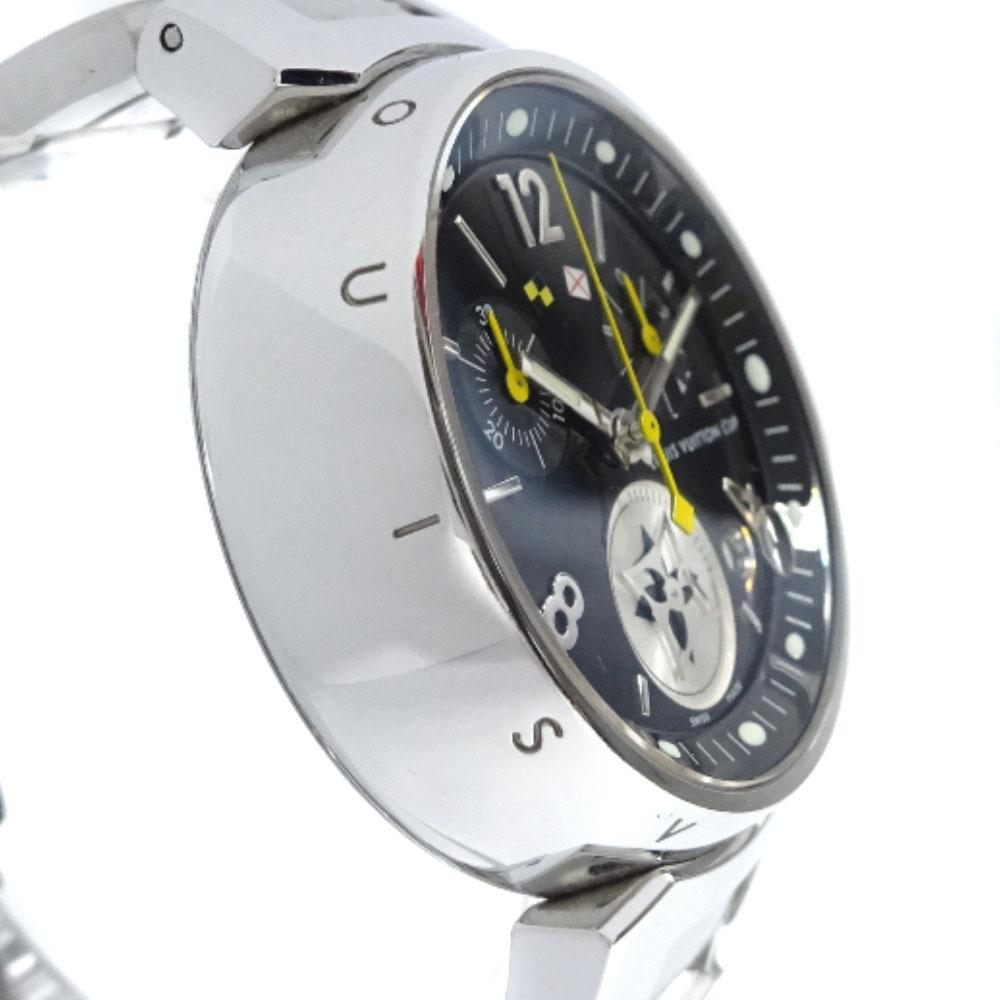 即決 ルイ ヴィトン タンブール ラブリーカップMM ボーイズ 腕時計 レディース クオーツ ブラック文字盤 シルバー Q132G_画像4
