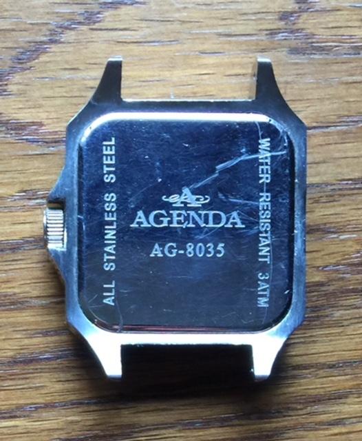 存在感満点!超大型!四角(スクエア)タイプ!渋いメンズ腕時計!【AGENDA(アジェンダ)】高級クオーツ式の腕時計《全国送料無料》_画像4