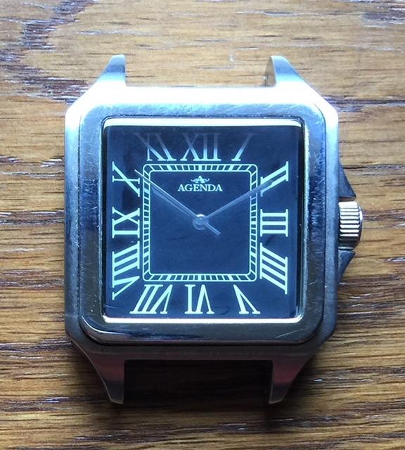 存在感満点!超大型!四角(スクエア)タイプ!渋いメンズ腕時計!【AGENDA(アジェンダ)】高級クオーツ式の腕時計《全国送料無料》_画像3