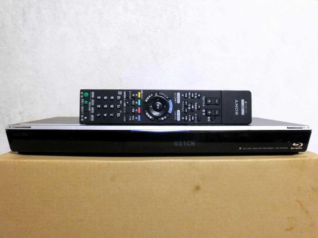 【1円~】ソニー SONY HDD/BDレコーダー BDZ-EW1000 リモコン付 完動品 状態良好 極美品