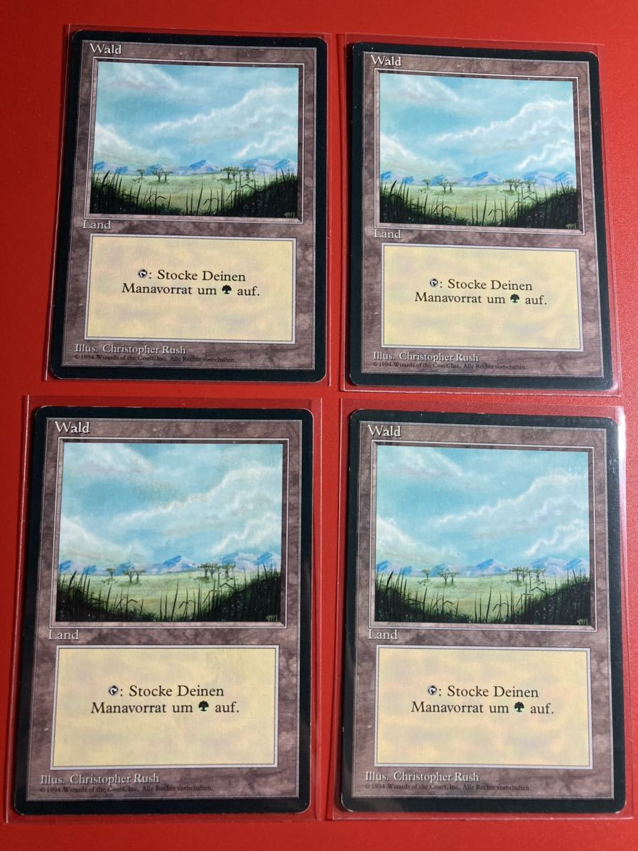 平地 エラーカード ドイツ語 Wald  数量3_画像1