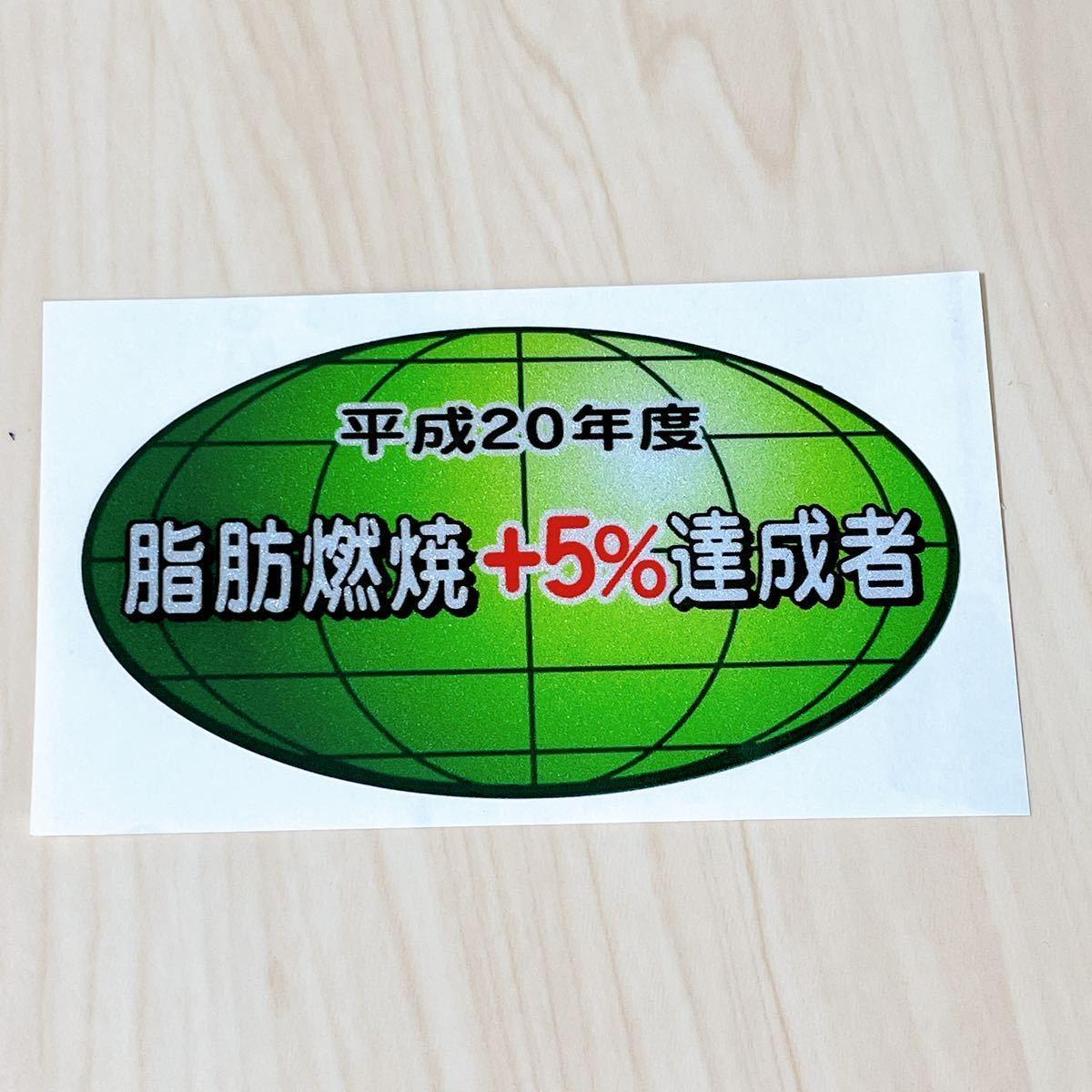 パロディステッカー リアガラスステッカー 【脂肪燃焼+5%達成者】低燃費ステッカー_画像1