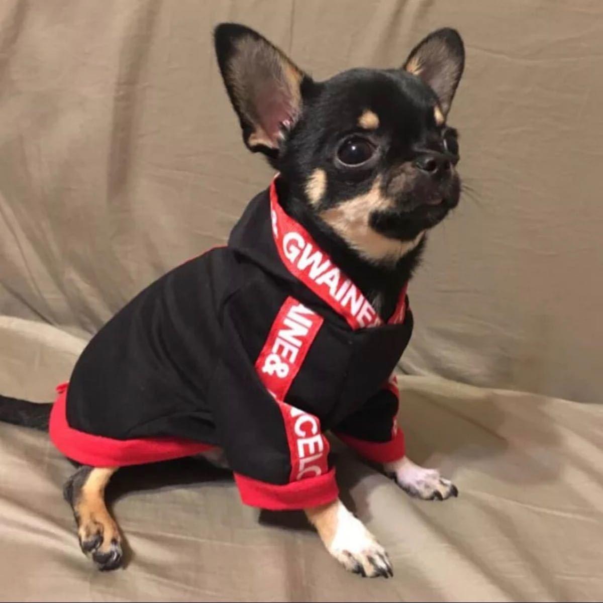 犬用服 犬服パーカー ブラック M