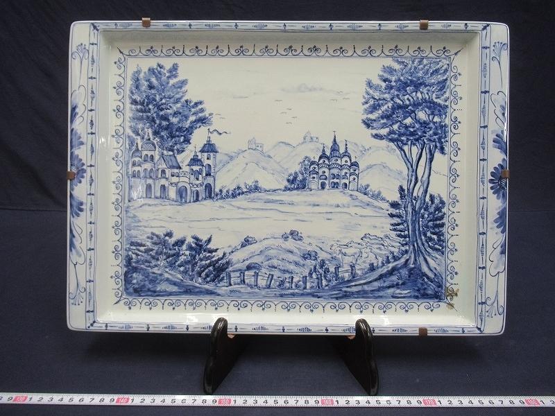 D3284 Opus Scholasticum ロイヤルコペンハーゲン 城風景図 飾皿 大皿 プレート