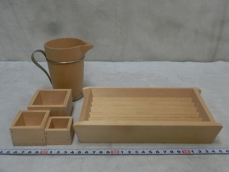 P3412 たる源 木製 入れ子 升盃 舟 酒器 酒盃