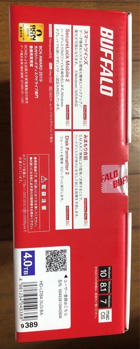 新品 バッファロー HD-LDS4.0U3-BA 外付けハードディスク 4TB