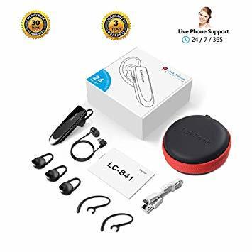 黒 Link Dream Bluetooth ワイヤレス ヘッドセット V4.1 片耳 日本語音声 マイク内蔵 ハンズフリー通話_画像6
