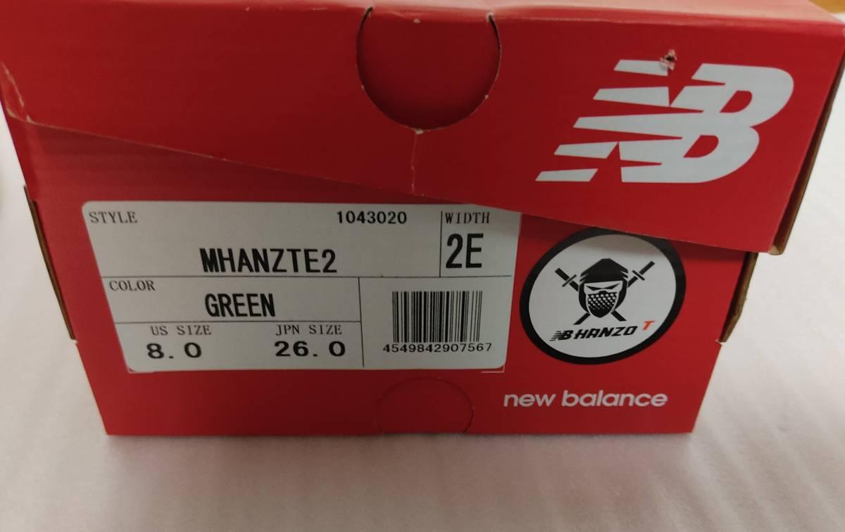 ★新品 ニューバランス new balance HANZO ランニングシューズ 26㎝ スニーカー MHANZTE2 2E マラソン ジョギング ハンゾー★