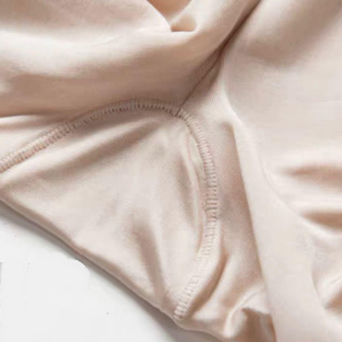 シルク絹100%インナーパンツ ペチパンツ ぴったり XL(L相当)黒1枚
