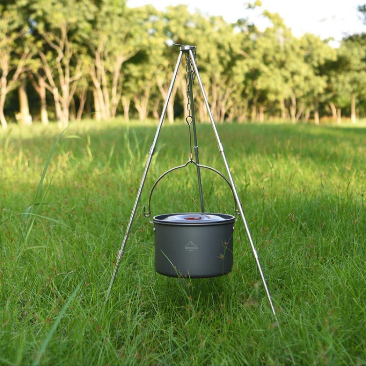 トライポッド WIDESEA キャンプ用品 焚き火 ダッチオーブン  新品未使用