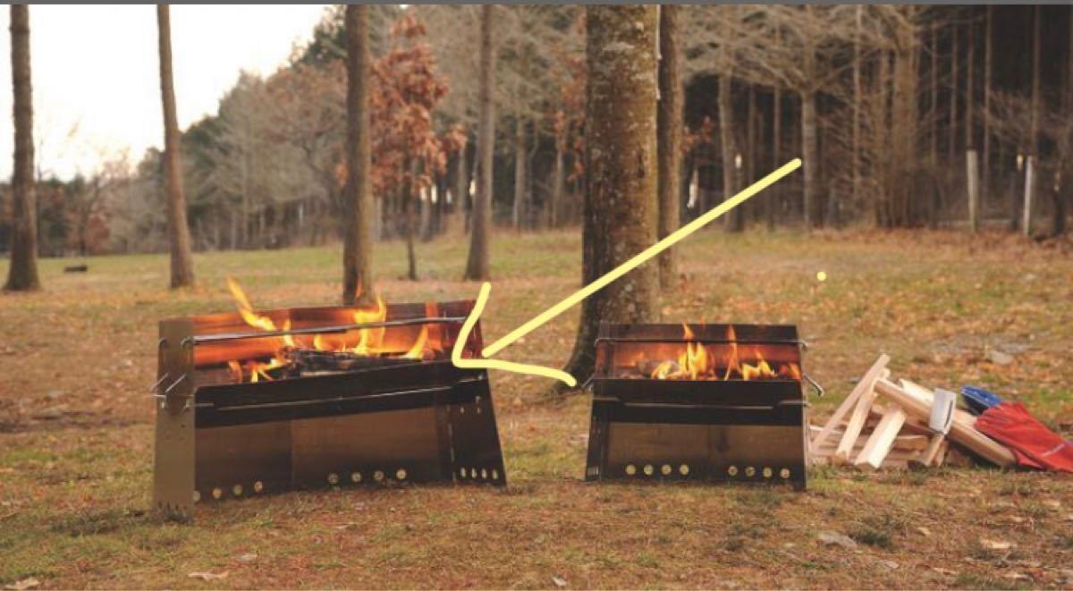 薪グリル ラージ ユニフレーム UNIFLAME BBQ かまど 焚き火台 新品 未使用 バーベキュー ダッチオーブン