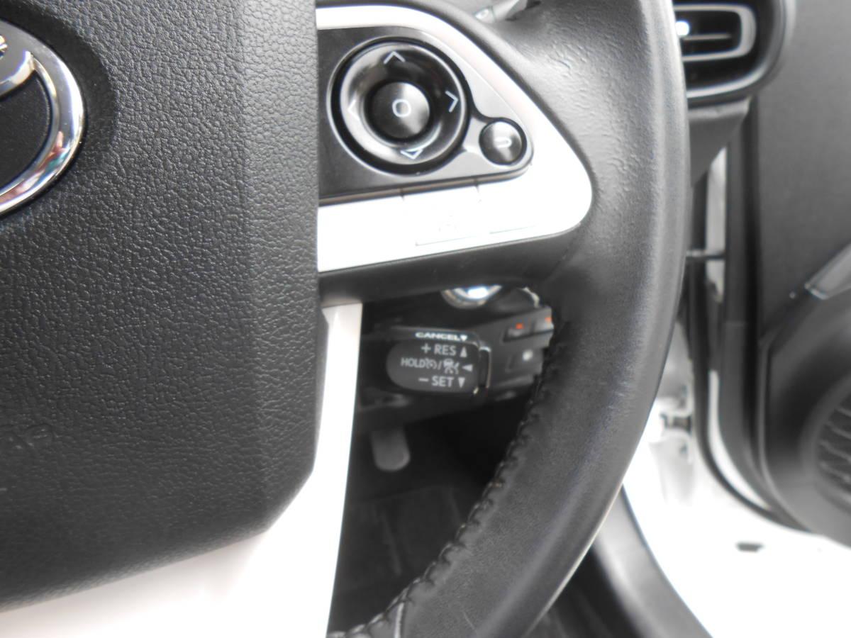 28年式 50系 プリウス S 4WD 163,000キロ SDナビ TV Bカメラ ETC LEDヘッドライト/フォグ Egスターター セーフティセンス 付 車検5年4月_セーフティセンス クルーズコントロール