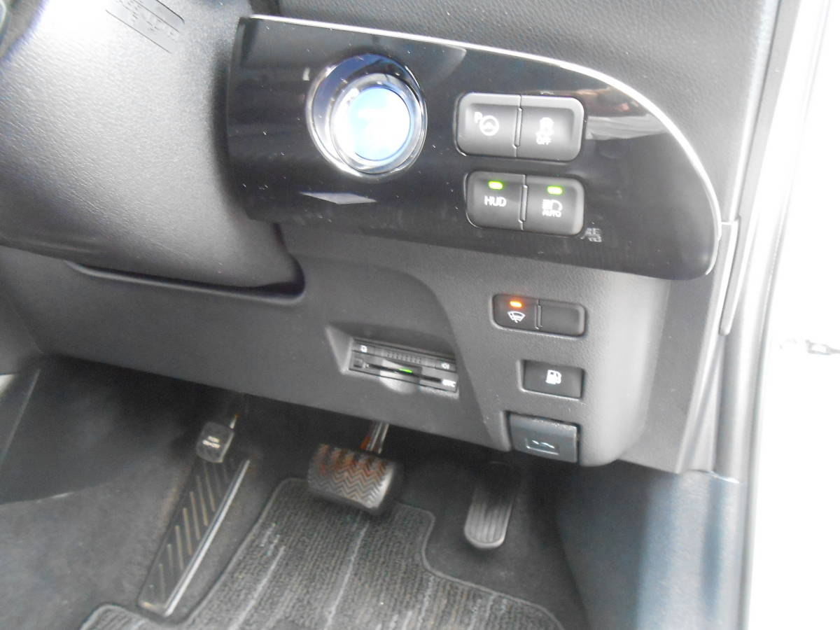 28年式 50系 プリウス A 4WD 139,000キロ 9インチSDナビ TV Bカメラ ETC LEDヘッドライト LEDフォグランプ セーフティセンス 付 車検5年4月_ビルトインETC 装備多彩!!