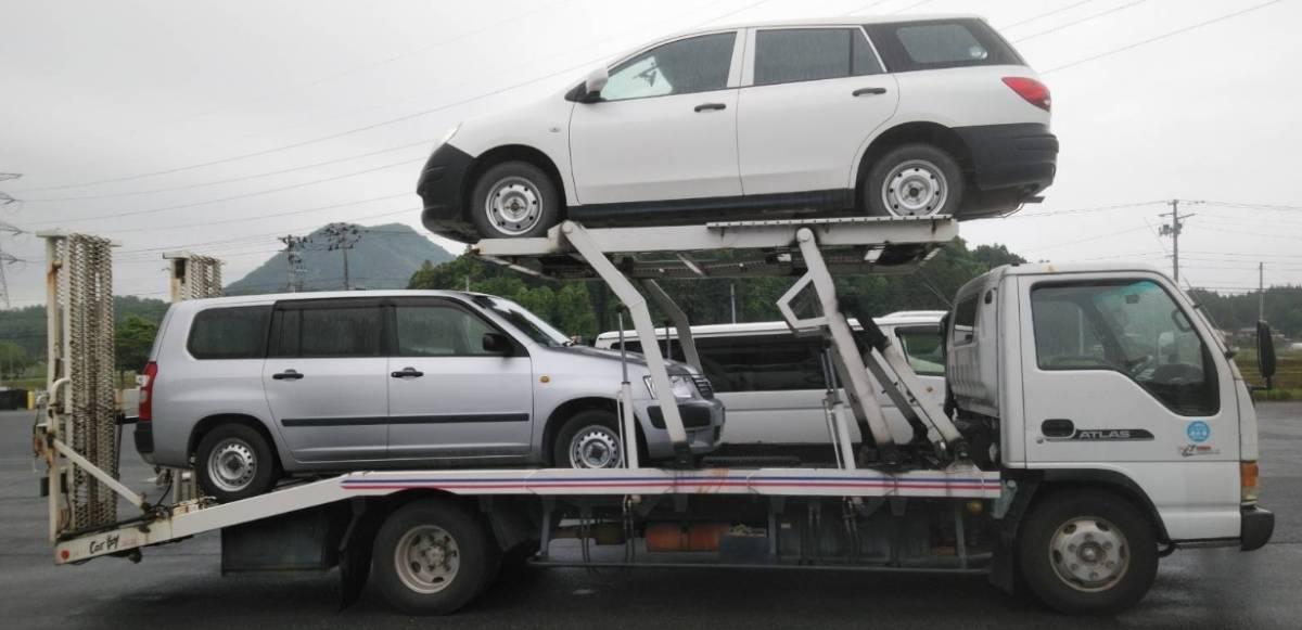 H13 アトラス(エルフ) フレーム綺麗 2台積み 積載車 車検R4/5 回送・陸送など 4HK1 ターボ いすゞ4発最強エンジン_画像2
