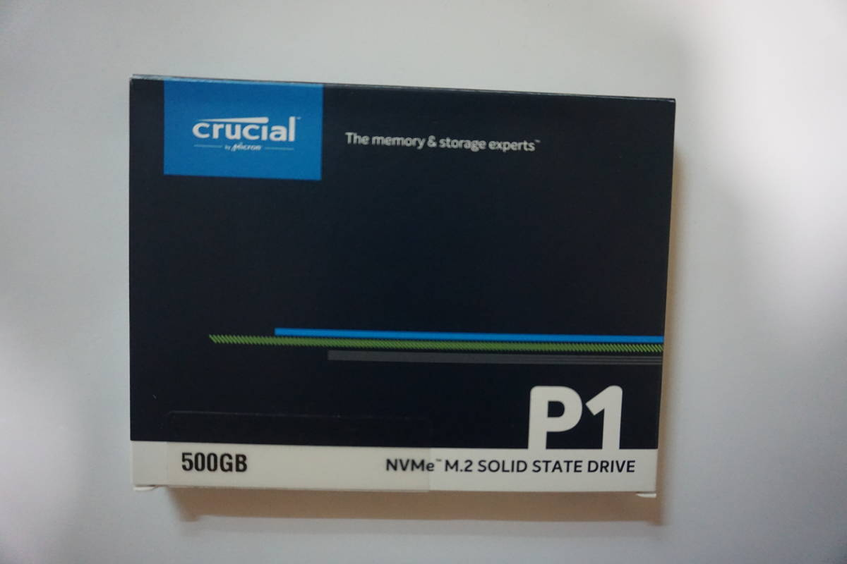 crucial 500GB NVMe M.2 SOLID STATE DRIVE箱