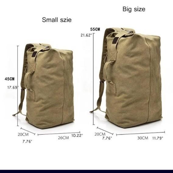 アウトドアバッグ  バケットバッグ バックパック リュックサック ショルダー 戦術的 キャンバス 大容量 リュック
