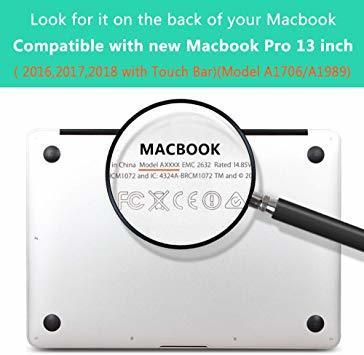 MacBook Pro 13 Touch Bar ケース 2016-2019 半透明 プラスチック 薄型 耐衝撃性 全面保護_画像2