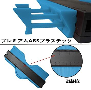 25cm青い+13cm赤 輪郭ゲージ 型取りゲージ コンターゲージ 測定ゲージ DIY複製用 プロフィイルゲージ 不規則測定器 _画像2