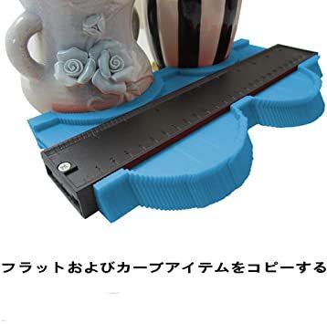 25cm青い+13cm赤 輪郭ゲージ 型取りゲージ コンターゲージ 測定ゲージ DIY複製用 プロフィイルゲージ 不規則測定器 _画像3