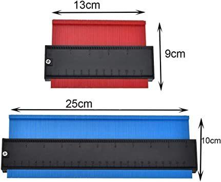 25cm青い+13cm赤 輪郭ゲージ 型取りゲージ コンターゲージ 測定ゲージ DIY複製用 プロフィイルゲージ 不規則測定器 _画像7