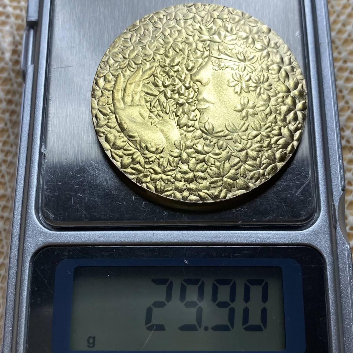 (4153) 桜の女神 菊の紋 現物資産 古銭コイン 記念メダル 貴重品所蔵品 貨幣 完全限定発行