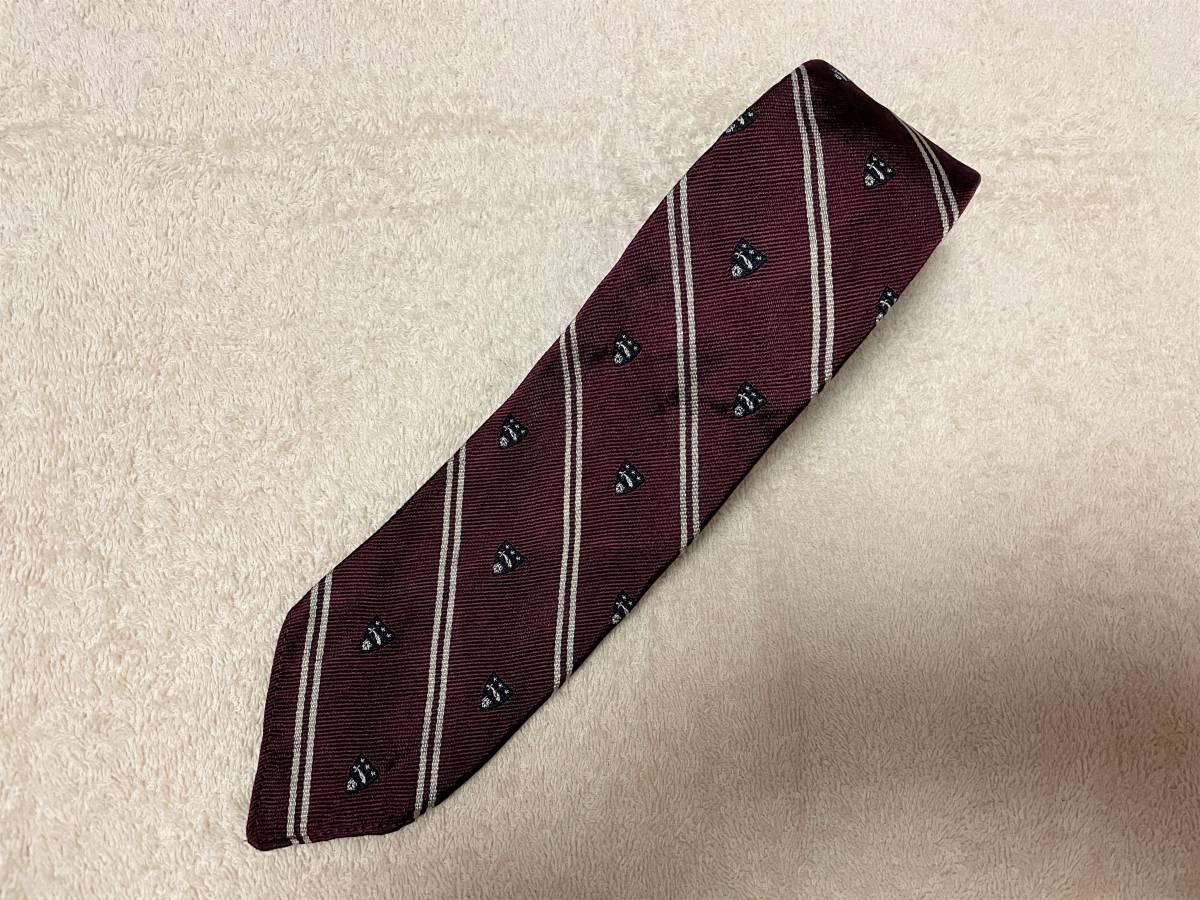 イタリア製 ポロ ラルフローレン ストライプ 紋章 ネクタイ カレッジタイ スフォデラート Polo by Ralph Lauren The Bleecker Tie