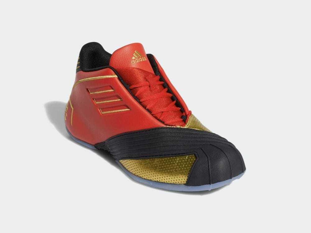 adidas(アディダス) T-MAC 1 トレイシー・マグレディ バスケットボールシューズ FW3655(レッド/ブラック/メタリックゴールド)26.5CM