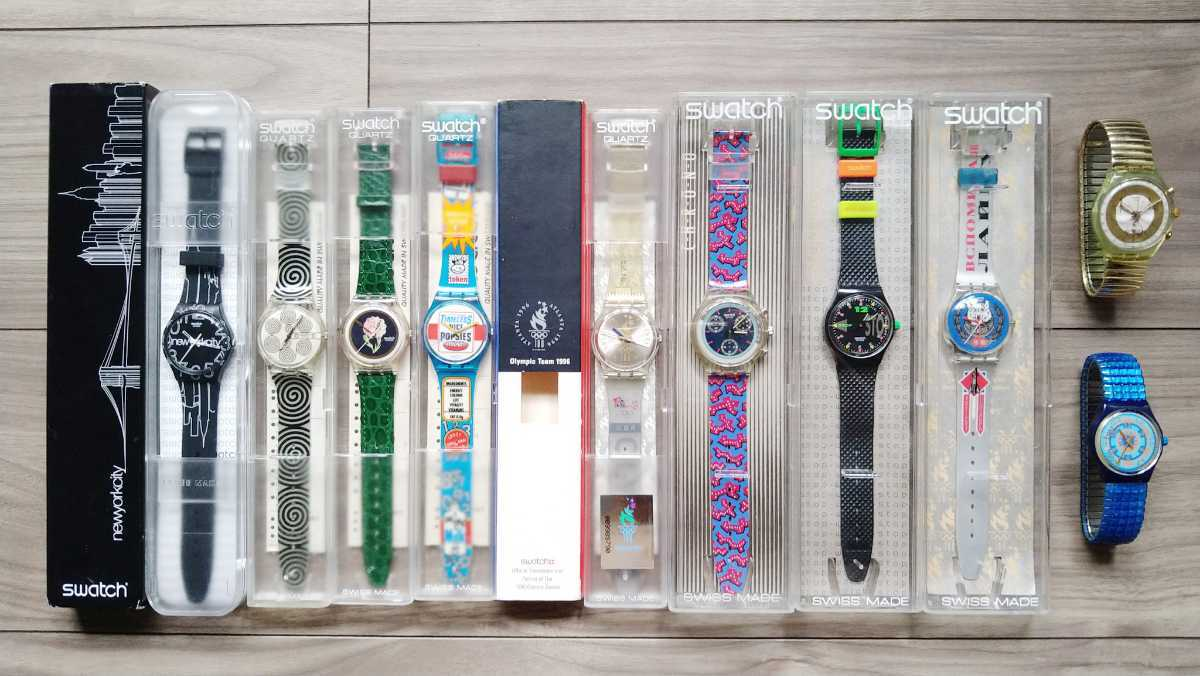 Swatch 未使用品10本セット Nightshift/Golden Globe/Wild Card/Good Morning/Lines In The Sky など