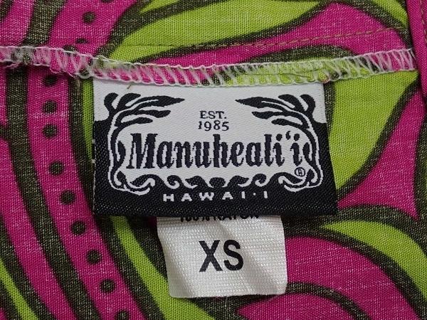 送料無料 Manuheali'i ノースリーブトップス・XS◆マヌヘアリィ/ハワイ/タンクトップ/アロハシャツ/21*5*2-8_画像6