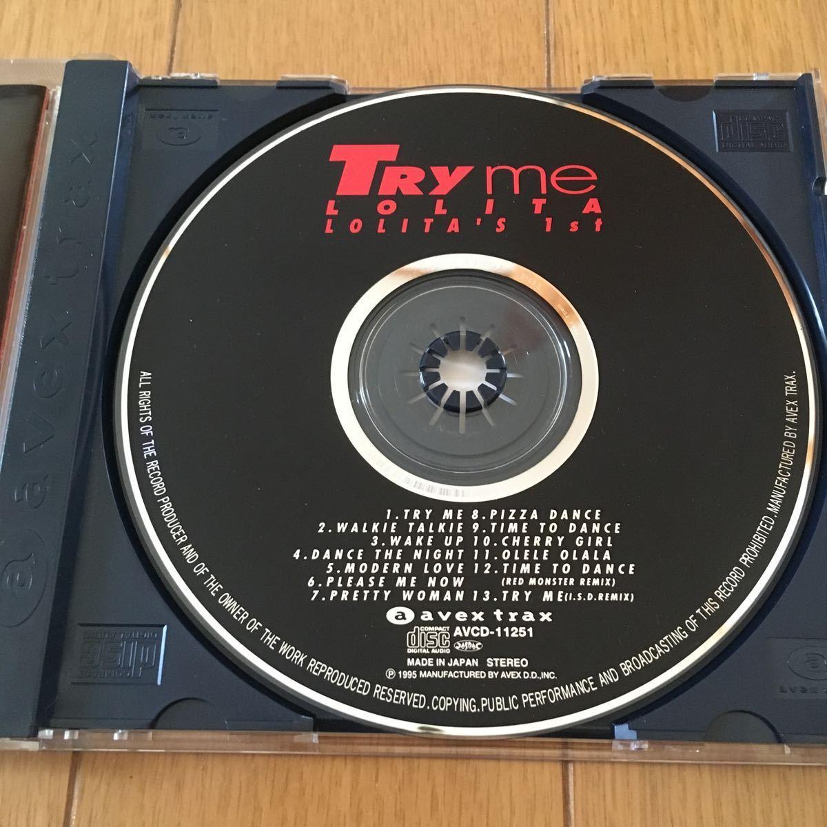 ネコポス送料無料 匿名発送☆ ◆TRY me/LOLITA☆ロリータ/トライ・ミー~ロリータズ・ファースト☆ユーロビート☆安室奈美恵☆avex trax☆_画像3